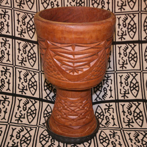 Lye Konate Carved Djembe Shell