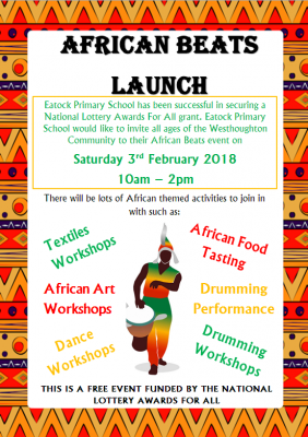 African drumming workshops and performance for Eatock