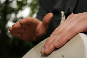 Hands Playing Djembe